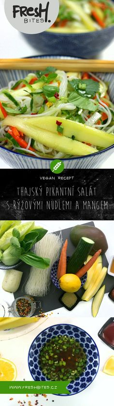 Osvěžující salát v thajském stylu s hromadou čerstvé zeleniny, mangem a rýžovými nudlemi, ochucený pikantní zálivkou je lehký, plný barev a neskutečně lahodný. Ochladí vás v horkých měsících.  #freshbites #freshbitesrecipe #freshrecipe #salat #salad #thajskakuchyne #thajsko #thai #thaisalad #thaikitchen #mango #letnirecept #summerrecipe #letnisalat #summersalad #dnesjim #dnesvarim #dnesjem #leto #summer Small Cottage Kitchen, Farmhouse Style Kitchen, Old Kitchen, Modern Farmhouse Kitchens, Kitchen Taps, Country Kitchen, Layout Design, Pak Choi, Kitchen Cabinet Design