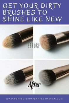 Do you want to clean your brushes without water. No drying time, no soap and no water. How to clean makeup brushes the right way.