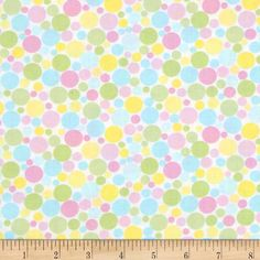 Dot.Com Small Tossed Dots White/Pastel Windham fabrics