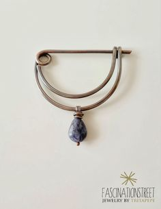 Fascinationstreet B-handmade: Onda - spilla in rame e sodalite / Copper brooch with sodalite
