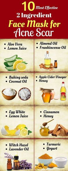 10 Most Effective 2 Ingredient Face Mask For Acne Scar - Face Mask for acne Scars and oily Skin - Homemade face Masks for acne scars and Blackheads