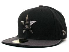 Houston Astros New Era 59 Fifty MLB Graphite Hats $28