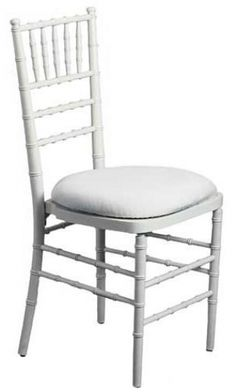 White Chivari Chair - the kind i recommend that we hire