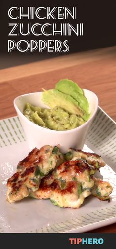 Chicken Zucchini Popper Recipe | This healthy dish can be served as a main or an appetizer. All you need is ground chicken breast, zucchini, green onions, cilantro, garlic and a little salt and pepper to make it. Then simply pair with your favorite dipping sauce from BBQ to guacamole to soy ginger - mix it up! The kids will love this one too! #familydinner