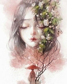 Find images and videos about art, manga and watercolor on We Heart It - the app to get lost in what you love. Art Anime Fille, Anime Art Girl, Anime Girls, Character Illustration, Illustration Art, Art Asiatique, Art Manga, Arte Obscura, Chinese Art