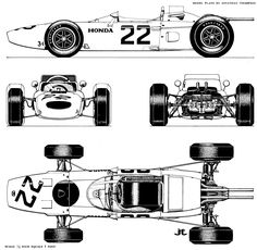 Honda RA272 blueprint