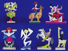 Wooden toys by Alexander Girard, 1940s.