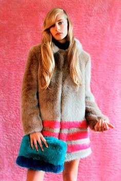 British designer Hannah Weiland's fun fake fur! http://shrimps.co ...