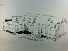 Furniture For Small Spaces Videos Tiny Apartments Studio Apt - Furniture Colors With Gray Walls - Upcycled Furniture Storage Repurposed Interior Architecture Drawing, Interior Design Renderings, Architecture Concept Drawings, Drawing Interior, Interior Rendering, Interior Sketch, Perspective Sketch, Interior Design Presentation, Industrial Design Sketch