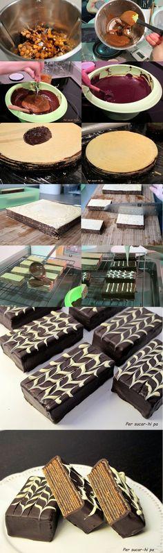Tarta de huesitos en porciones / http://persucar-hipa.blogspot.com.es/