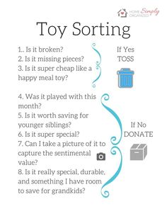 Questions to ask yourself when sorting through kids toys