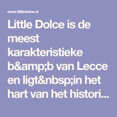 Little Dolce is de meest karakteristieke b&b van Lecce en ligt in het hart van het historisch centrum. Little Dolce biedt verschillende type kamers aan.