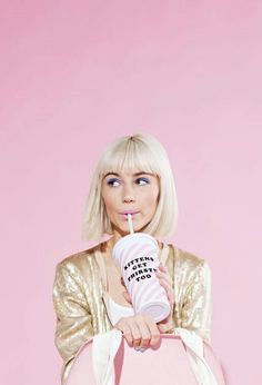 Find images and videos about pink, aesthetic and blonde on We Heart It - the app to get lost in what you love. Pink Lady, Shooting Studio, Tout Rose, Pin Up, Rose Pastel, Photo Portrait, Girly, Portraits, Everything Pink