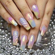 unicorn trending coffin nail art