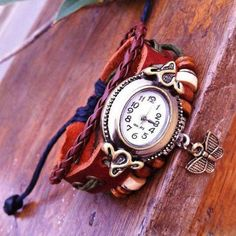 Cheap Cute Butterfly Rope Bracelet Watch For Big Sale!Handmade bracelet watch for big sale! Simple Watches, Cute Watches, Retro Watches, Vintage Watches, Women's Watches, Cheap Watches, Watches Online, Cute Butterfly, Bracelet Designs