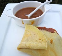 Crepes con Arequipe (Dulce de Leche Crepes) Crepe recipe looks good, but the cajeta filing I will just buy as I don't plan on spending three hours to make it.