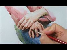 얼굴 그리기, 인체 수채화 4 watercolor portrait - YouTube
