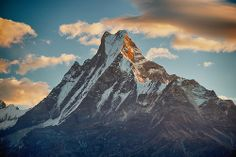 Sunrise over Machapuchare mountain, Annapurna, Nepal