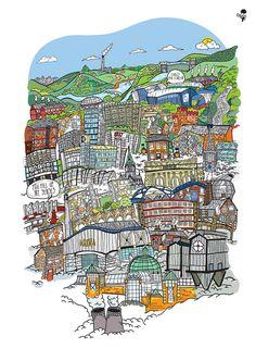 Goo Design Sheffield Art,Prints,Phones cases and Shirts Sheffield Map, Sheffield Steel, Sheffield United, Pete Mckee, South Yorkshire, City Art, Map Art, Best Memories, Prints For Sale