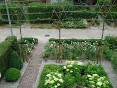 hortensien garten element of hight is important Backyard Garden Design, Love Garden, Dream Garden, Backyard Landscaping, Small Gardens, Outdoor Gardens, The Secret Garden, Garden Pictures, Garden Styles