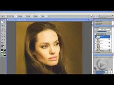 How to create portraits form photographs in Corel Painter 11 #painter11 #angelinajolie