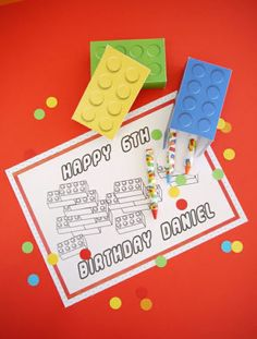 Lego Inspired Birthday Crafts