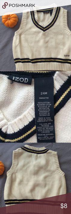 Izod little boy sweater vest EUC This adorable sweater vest is 100% cotton. Izod Shirts & Tops Sweaters