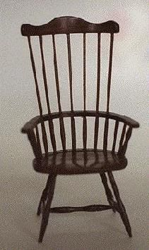 George Pennell, Miniatures by George, IGMA artisan  - Windsor tall back chair