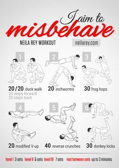 I Aim To Misbehave (Firefly) Workout & tons of other great themed workouts (Wolverine Workout, You Had Me At Bacon Workout, & many more)