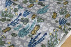 Japanese Fabric  Cactus double gauze  C  50cm by MissMatatabi