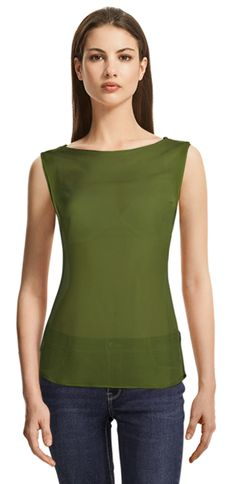 Blouse made to fit your unique measurements! Made to measure women clothes at Sumissura Design Your Shirt, Party Jackets, Custom Made Clothing, Business Casual Dresses, High Waisted Pencil Skirt, Casual Blazer, Green Blouse, Collar Styles, Sleeveless Blouse