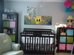 nursery with pops of color