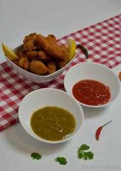 Chicken Nuggets mit zwei scharfen Dipps - Katha-kocht!