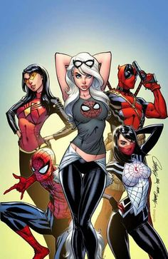 Spider man 17 silk Jessica Drew deadpool