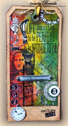 #papercraft #tags via Bumblebees and Butterflies: Practicing Tim Holtz's 12 Tags of 2013 - May