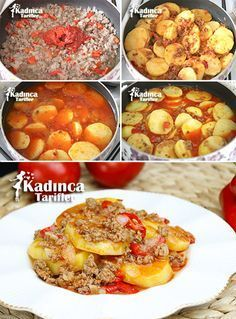 Tencerede Kıymalı Patates Oturtma Tarifi, Nasıl Yapılır – Sebze yemekleri – Las recetas más prácticas y fáciles Turkish Recipes, Italian Recipes, Potato Recipes, Meat Recipes, Musaka, Fish And Meat, Iftar, Best Appetizers, Breakfast Recipes