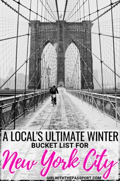 #Winter is one of the best times to visit #NewYorkCity. But it can be hard to figure out what to do in NYC. So here is a bucket list of all the attractions local's visit, like Central Park, Bryant Park, Dyker Heights, and more! So check out all the things New Yorkers do during the #holidays.