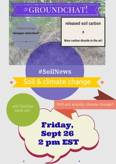 We're covering the latest news on the effect of soil on climate change this Friday, September 26 at 2 pm EST. Join us on #groundchat #soilnews.