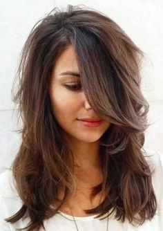 medium layered haircut for thick hair More