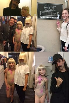 Sia only shows her head during bizarre Ellen Show appearance Sia And Maddie, Maddie And Mackenzie, Dance Mums, Just Dance, Maddie Ziegler Chandelier, Sia Music Video, Sia Songs, Ellen Show, Sia Kate Isobelle Furler