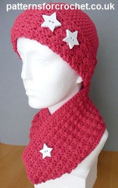 Free crochet pattern cowl and beanie usa