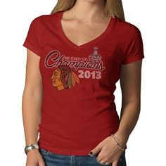 Chicago Blackhawks Stanley Cup Champs Womens V-Neck Shirt