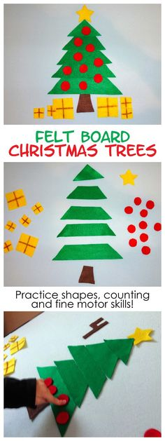 Christmas Tree Felt Board Activity - shapes and counting fun!