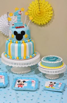 "Set the scene with these Mickey Mouse 1st Birthday party ideas. You'll find ideas for your Mickey Mouse 1st Birthday Party with Mickey's Fun To Be One themed supplies, decorations, balloons, and ""Fun To Be One"" Mickey Mouse Birthday Cake"