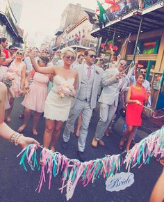 What better way to celebrate your wedding than with a fun and joyous parade through the streets?!