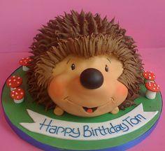 Hedgehog Birthday Cake cakepins.com