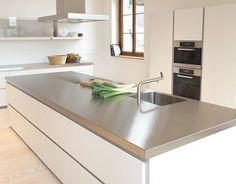 Encimera de acero inoxidable | Decorar tu casa es facilisimo.com
