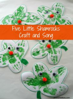 Five Little Hand Print Shamrocks Craft and Song