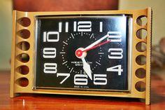 Westclox Vintage Clock Midcentury Modern