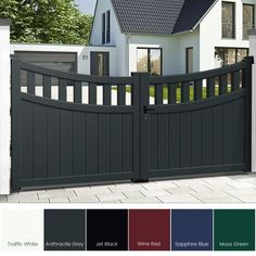 Aluminium Driveway Gates the Chesterfield The perfect solution for those wanting low maintenance gates Produced using the finest aluminium profiles